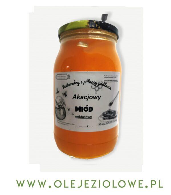 Miód Nektarowy Akacjowy 1,2Kg ( 1200 gram )